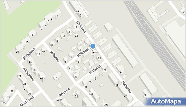 Sosnowiec, Naftowa, 17, mapa Sosnowca