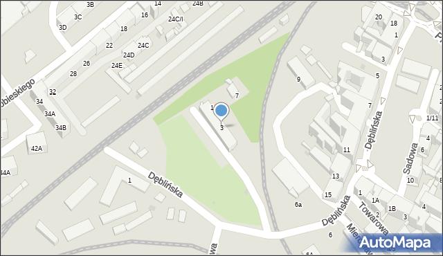 Sosnowiec, Naftowa, 3, mapa Sosnowca