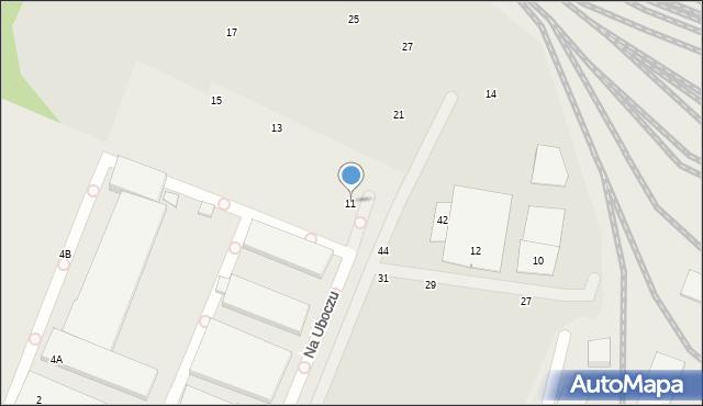 Toruń, Na Uboczu, 11, mapa Torunia