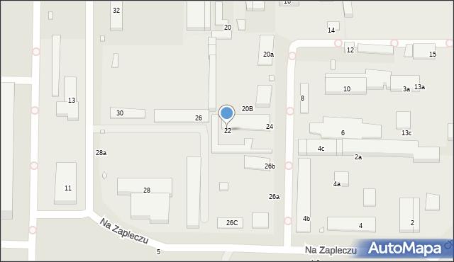 Toruń, Na Zapleczu, 22, mapa Torunia