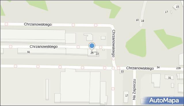 Toruń, Na Zapleczu, 25, mapa Torunia