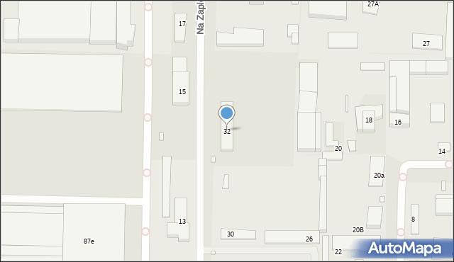 Toruń, Na Zapleczu, 32, mapa Torunia