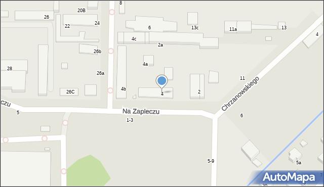 Toruń, Na Zapleczu, 4, mapa Torunia