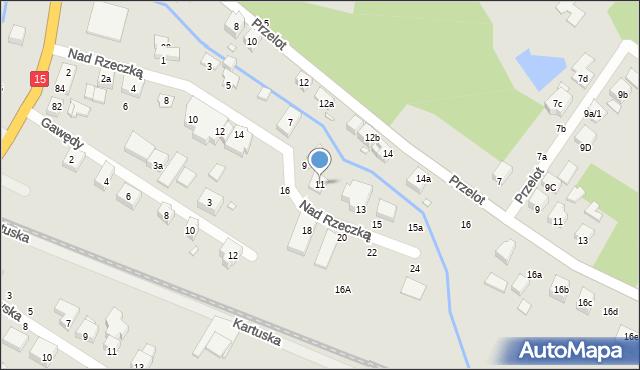 Toruń, Nad Rzeczką, 11, mapa Torunia
