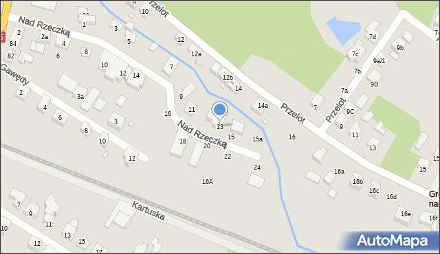 Toruń, Nad Rzeczką, 13, mapa Torunia