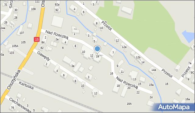 Toruń, Nad Rzeczką, 14, mapa Torunia