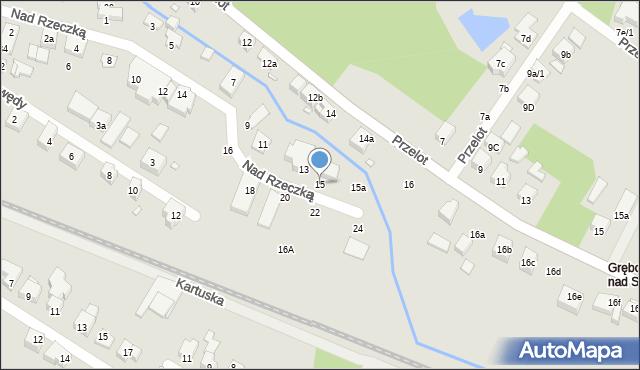 Toruń, Nad Rzeczką, 15, mapa Torunia