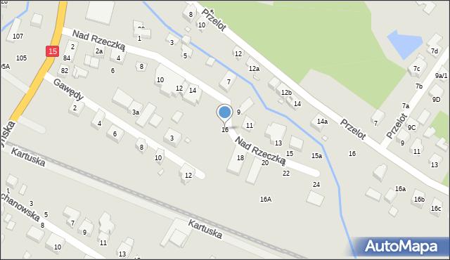 Toruń, Nad Rzeczką, 16, mapa Torunia