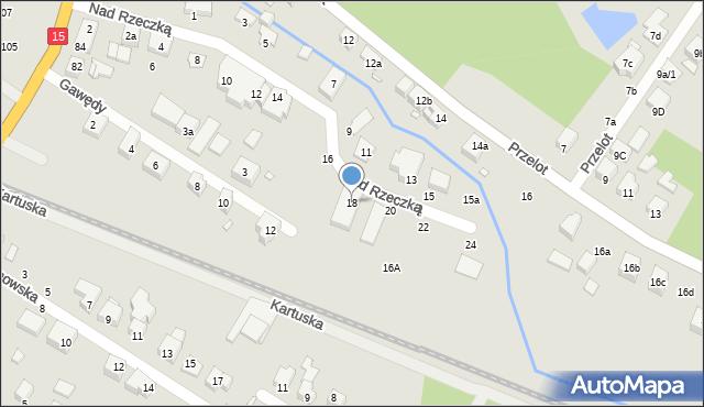 Toruń, Nad Rzeczką, 18, mapa Torunia