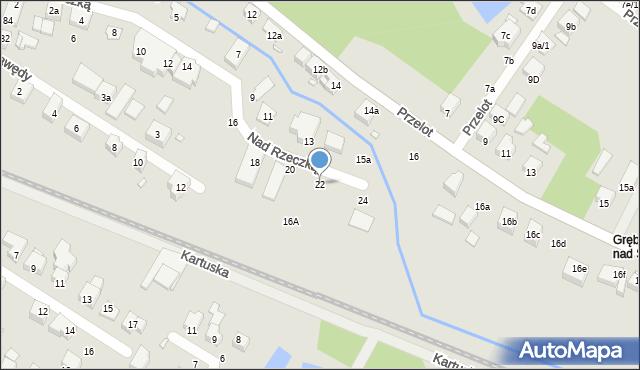 Toruń, Nad Rzeczką, 22, mapa Torunia
