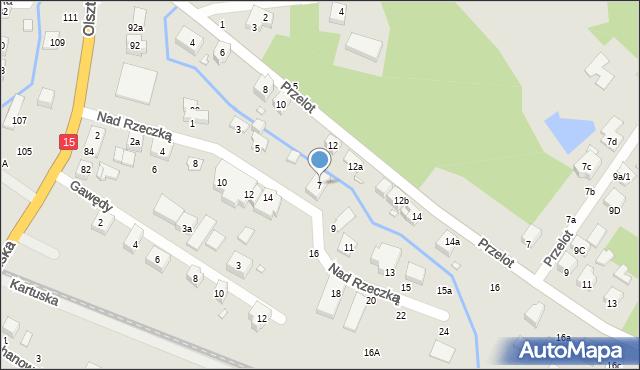 Toruń, Nad Rzeczką, 7, mapa Torunia