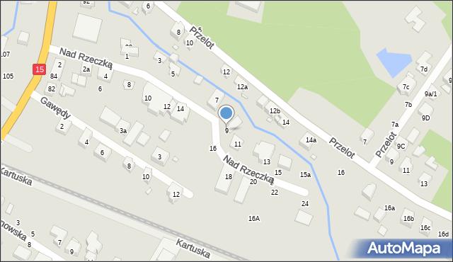 Toruń, Nad Rzeczką, 9, mapa Torunia