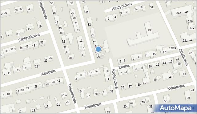 Toruń, Narcyzowa, 20, mapa Torunia