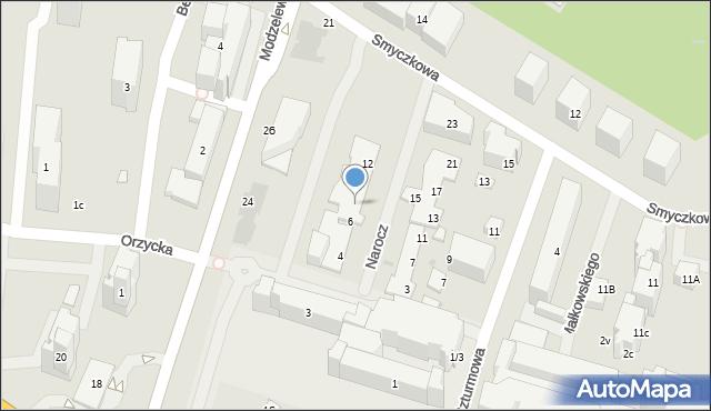 Warszawa, Narocz, 8, mapa Warszawy