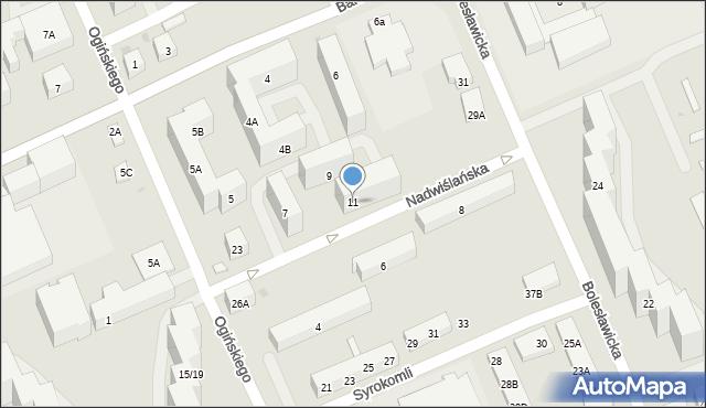 Warszawa, Nadwiślańska, 11, mapa Warszawy