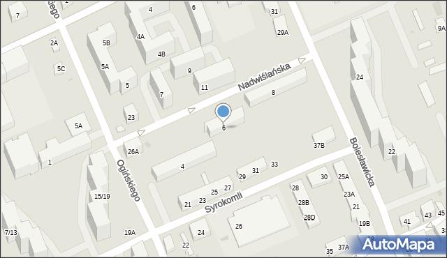 Warszawa, Nadwiślańska, 6, mapa Warszawy