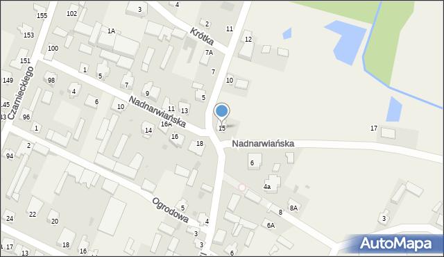 Wizna, Nadnarwiańska, 15, mapa Wizna