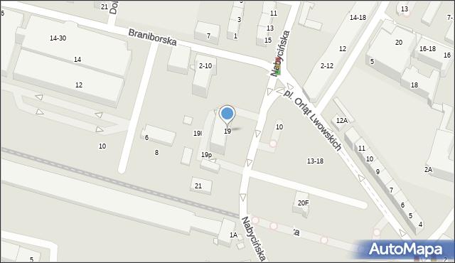 Wrocław, Nabycińska, 19, mapa Wrocławia