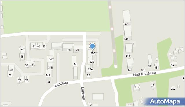 Zabrze, Nad Kanałem, 22C, mapa Zabrza