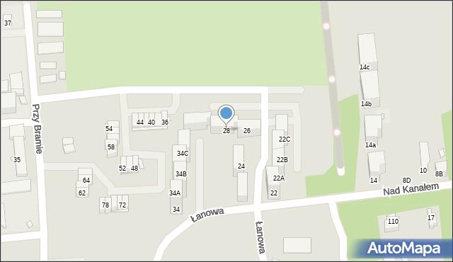 Zabrze, Nad Kanałem, 28, mapa Zabrza