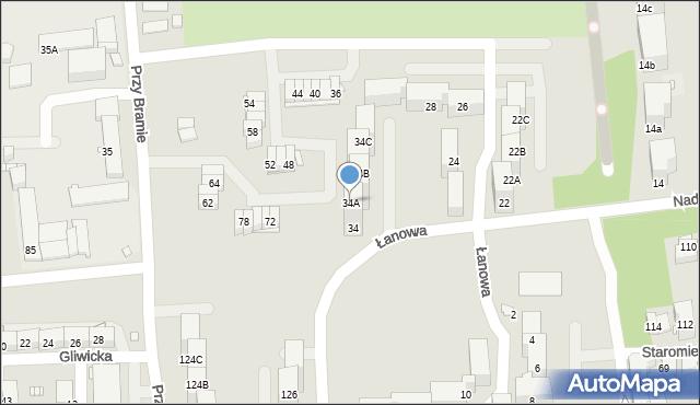 Zabrze, Nad Kanałem, 34A, mapa Zabrza
