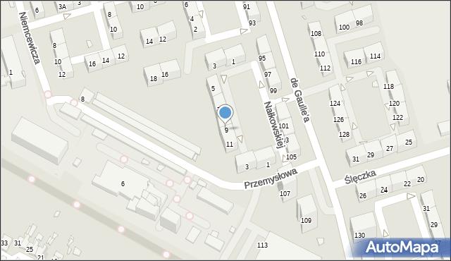 Zabrze, Nałkowskiej Zofii, 9, mapa Zabrza