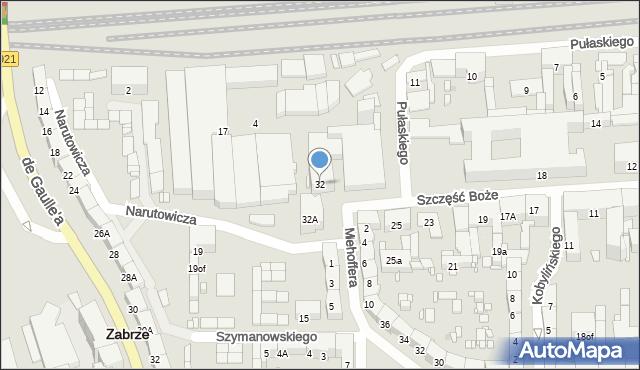 Zabrze, Narutowicza Gabriela, 32, mapa Zabrza