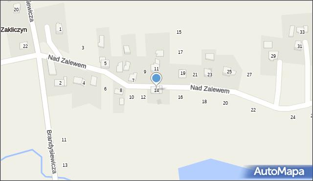 Zakliczyn, Nad Zalewem, 14, mapa Zakliczyn