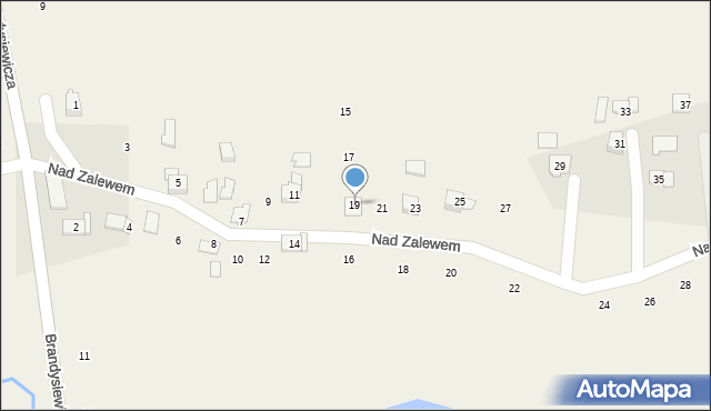 Zakliczyn, Nad Zalewem, 19, mapa Zakliczyn