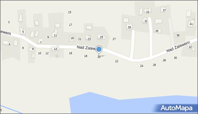 Zakliczyn, Nad Zalewem, 20, mapa Zakliczyn