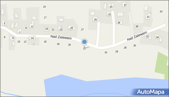 Zakliczyn, Nad Zalewem, 22, mapa Zakliczyn