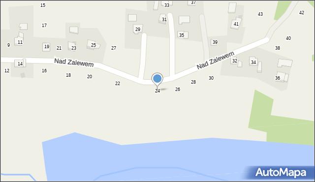Zakliczyn, Nad Zalewem, 24, mapa Zakliczyn