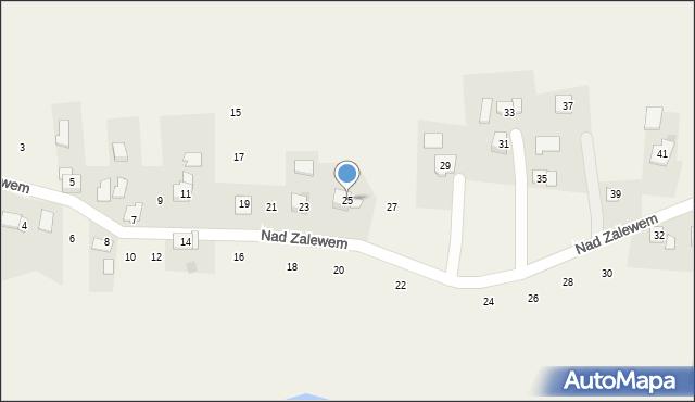 Zakliczyn, Nad Zalewem, 25, mapa Zakliczyn