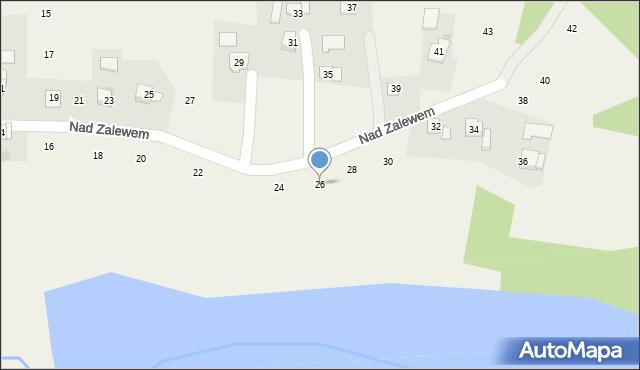 Zakliczyn, Nad Zalewem, 26, mapa Zakliczyn