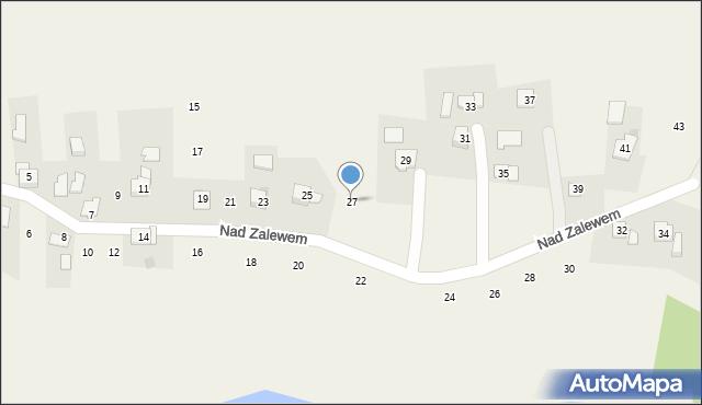 Zakliczyn, Nad Zalewem, 27, mapa Zakliczyn