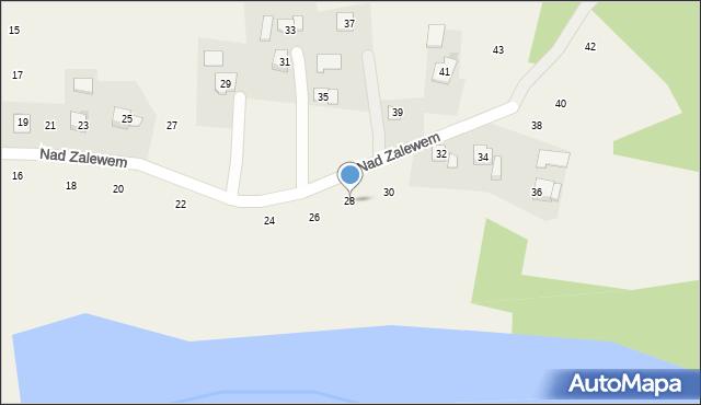 Zakliczyn, Nad Zalewem, 28, mapa Zakliczyn
