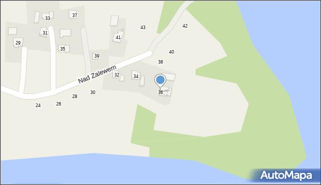 Zakliczyn, Nad Zalewem, 36, mapa Zakliczyn