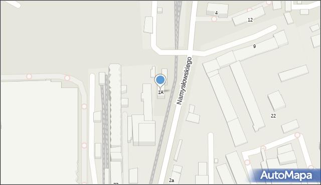 Zamość, Namysłowskiego Karola, 1A, mapa Zamościa