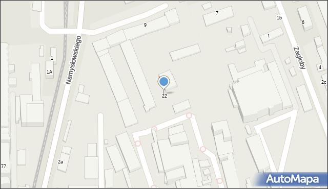 Zamość, Namysłowskiego Karola, 22, mapa Zamościa
