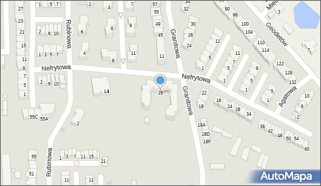 Piaseczno, Nefrytowa, 16, mapa Piaseczno