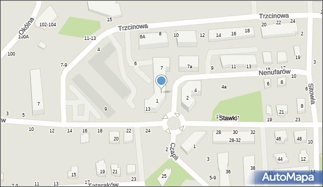 Toruń, Nenufarów, 3, mapa Torunia