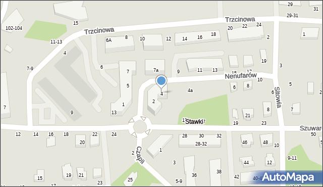 Toruń, Nenufarów, 4, mapa Torunia