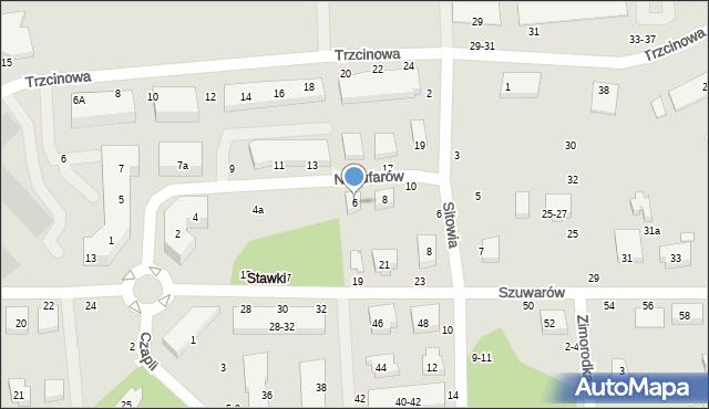 Toruń, Nenufarów, 6, mapa Torunia