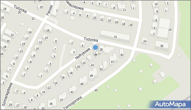 Warszawa, Nefrytowa, 26, mapa Warszawy