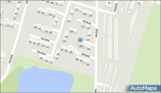 Bytom, Nickla Józefa, 100, mapa Bytomia