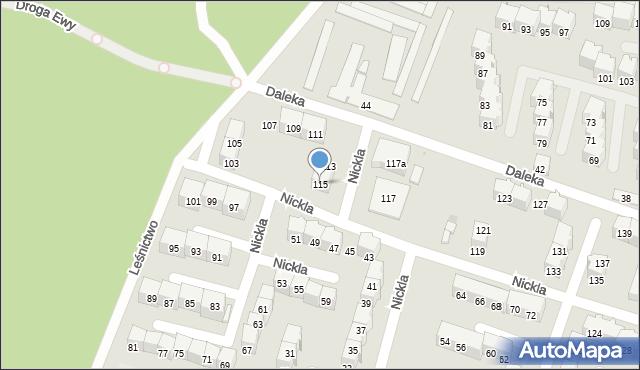 Bytom, Nickla Józefa, 115, mapa Bytomia