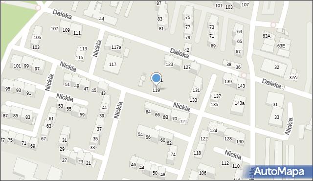 Bytom, Nickla Józefa, 119, mapa Bytomia