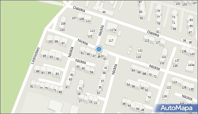 Bytom, Nickla Józefa, 45, mapa Bytomia