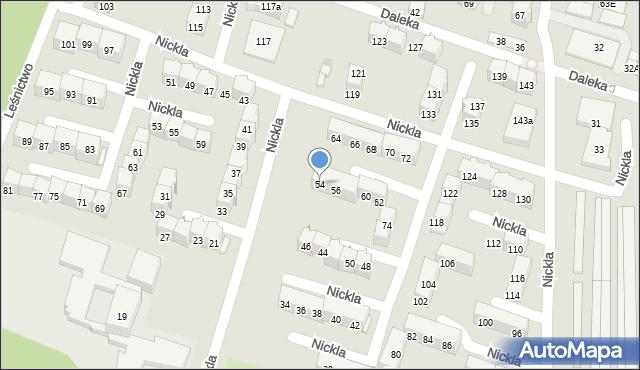 Bytom, Nickla Józefa, 54, mapa Bytomia
