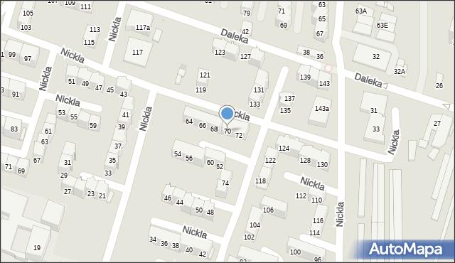 Bytom, Nickla Józefa, 70, mapa Bytomia